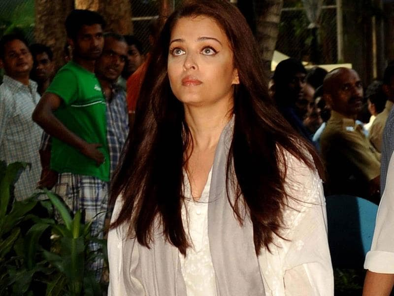 Aishwarya Rai Bachchan at the prayer meet. (AFP Photo)