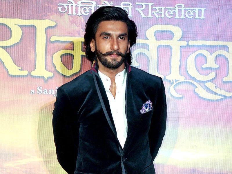 Bollywood actor Ranveer Singh attends the first look trailer launch of the upcoming romantic-drama Ram Leela directed and produced by Sanjay Leela Bhansali. (AFP)