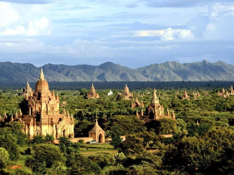 Ancient temples stand in Bagan, central Myanmar. After closing its doors to the West for half a century, Myanmar has reopened, inviting all to come and discover its treasures, ancient palaces of kings long gone, legends and mysteries told in stone. Photo: AP/Khin Maung Win