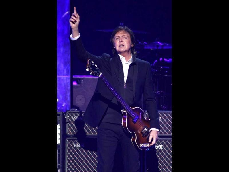 Paul McCartney performs during at the iHeartRadio Music Festival in Las Vegas. (Reuters Photo)
