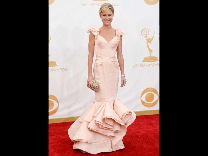 Julie Bowen arrives at the 65th Annual Primetime Emmy Awards held at Nokia Theatre L.A. Live on September 22, 2013 in Los Angeles, California. (AFP Photo)