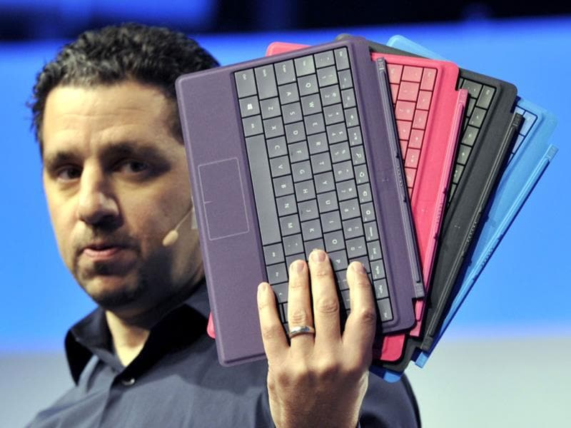 Microsoft Vice President Panos Panay, during a news conference to introduce the Microsoft Surface 2 in New York. Photo: AFP / Timothy Clary