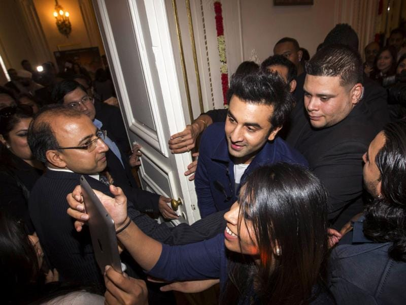Ranbir Kapoor was in New York for a promotional event for Besharam.