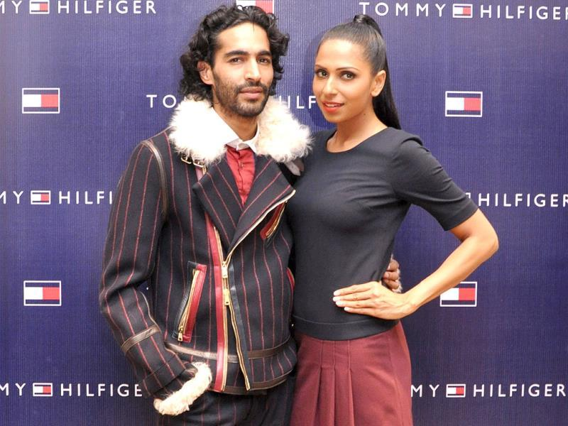 Anuj Choudhary and Candice Pinto pose at the launch.