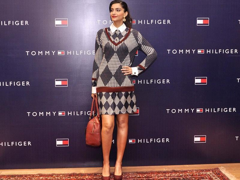 Sonam Kapoor charmed all as she came dressed in Tommy Hilfiger apparel from the new collection.