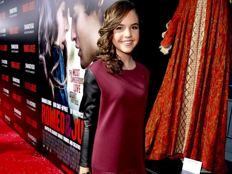 A happy Bailee Madison. (AP Photo)