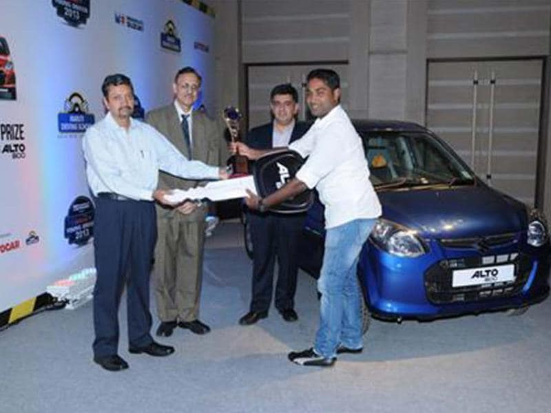 Smruti Ranjan Das Crowned India's Safest Young Driver 2013!