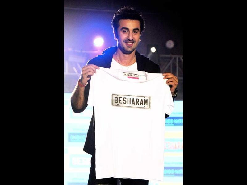 And a Besharam t-shirt! (AFP Photo)