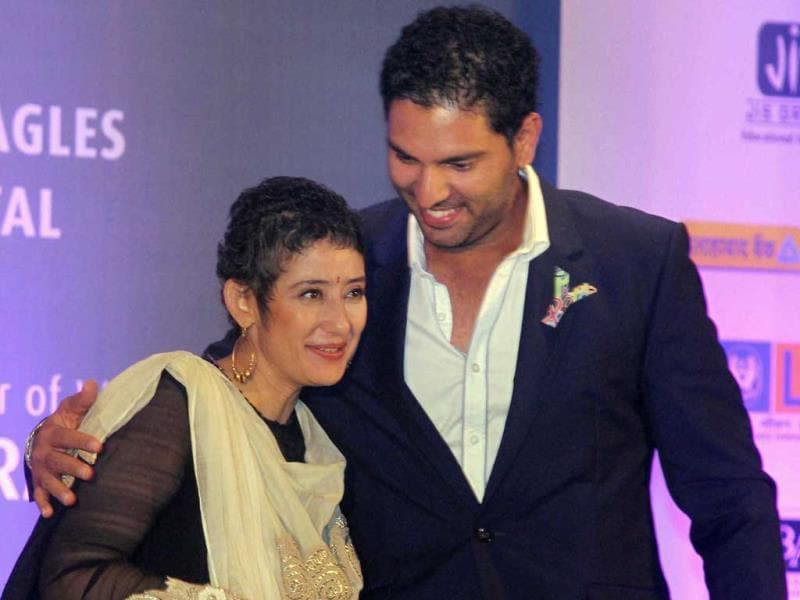 Cancer survivors cricketer Yuvraj Singh and Bollywood actress Manisha Koirala championed fight against cancer recently in Kolkata. Browse through the brave and charming faces. (PTI Photo)