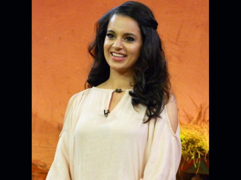 Kangna Ranaut on the sets of Comedy Nights with Kapil.