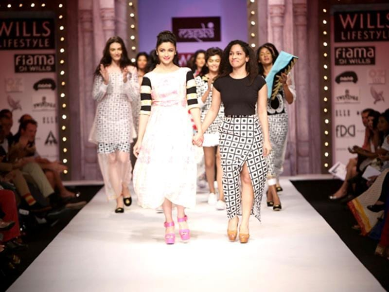Alia and Masaba hand-in-hand.