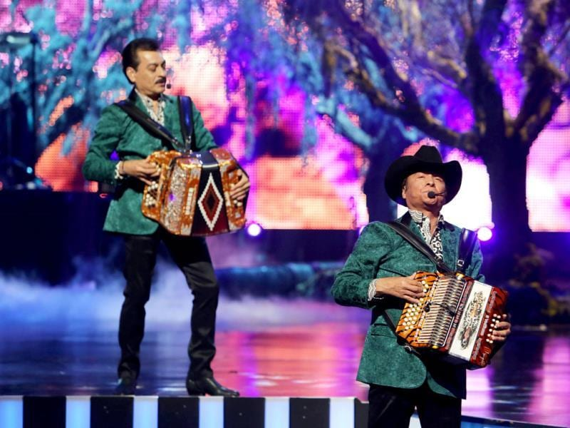 Los Tigres Del Norte onstage during the 3rd Annual Billboard Mexican Awards at The Dolby Theatre in Los Angeles. (AP Photo)