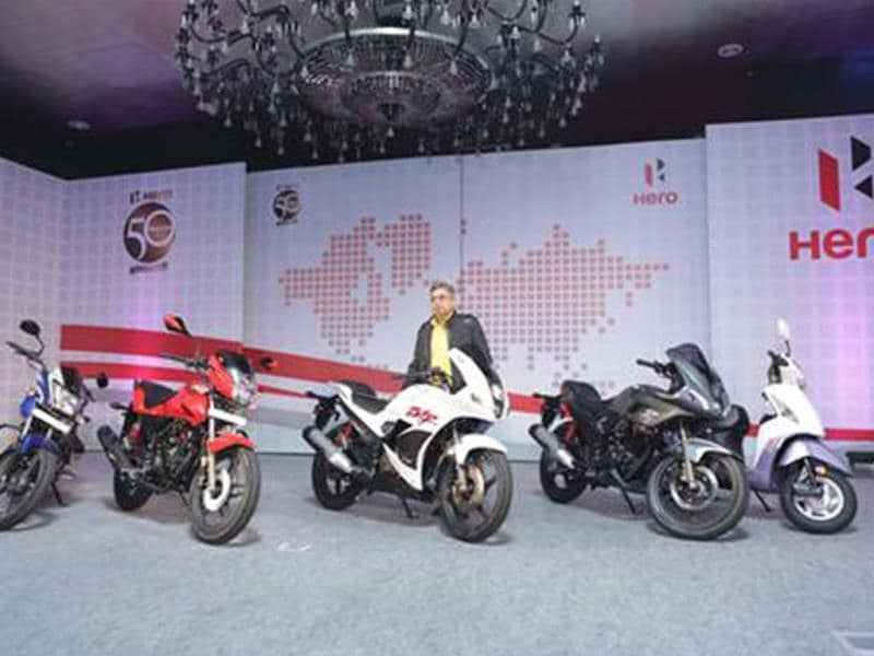 Hero MotoCorp showcases 2014 line-up