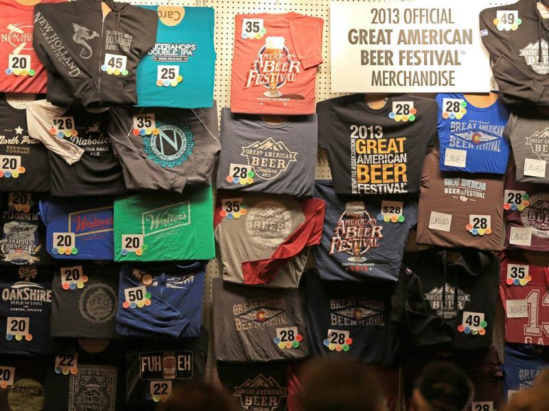 Festival goers shop for merchandise at the 32nd annual Great American Beer Festival at the Colorado Convention Center in Denver, Colorado. (AFP Photo)