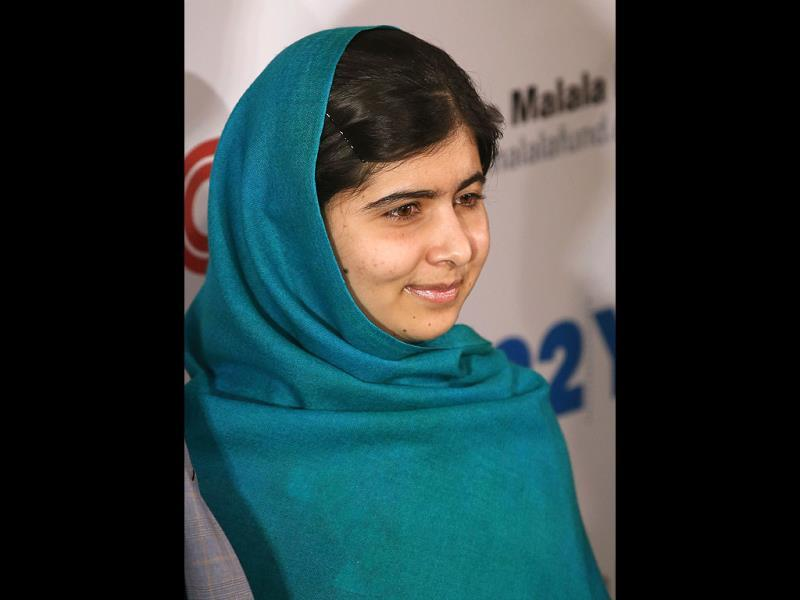 Malala Yousafzai appears before photographers in New York. (AFP Photo)