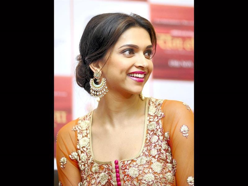 Deepika Padukone, during the promotion of her upcoming film in Ahmedabad on Wednesday late night. (PTI Photo)