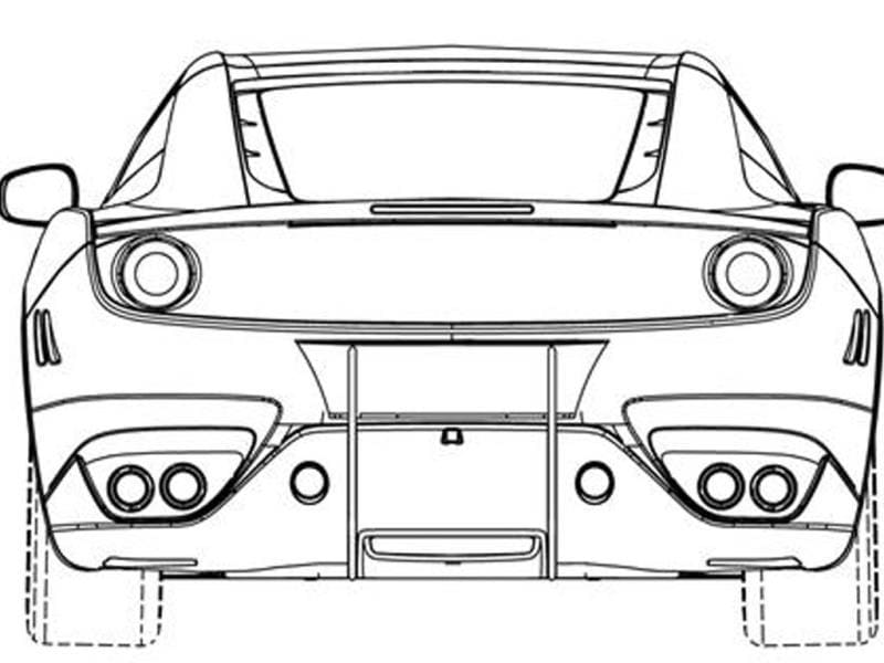New Ferrari revealed in patent images