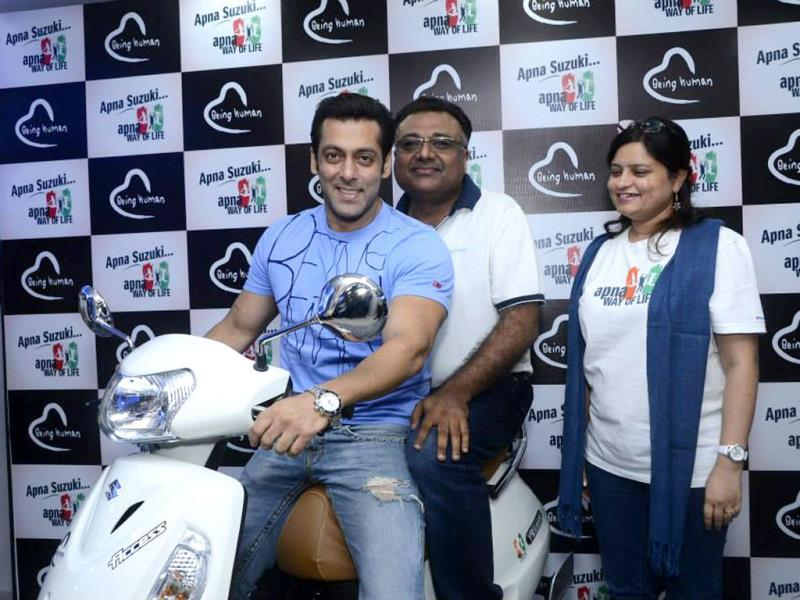 Salman Khan was recently spotted at an event of Suzuki - Apna Way of life. The star has been promoting the campaign vigorously on his social networking profiles. Browse through.