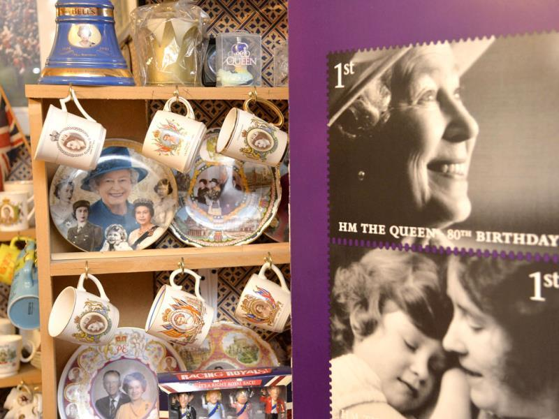 Paraphernalia celebrating Britain's royal family, seen at the house of Margaret Tyler who has dedicated her house as a shrine to the family. (Reuters Photo)