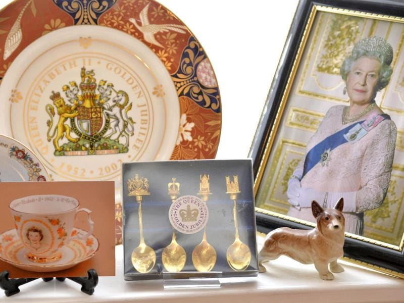 Paraphernalia celebrating Britain's royal family seen at the house of Margaret Tyler who has dedicated her house as a shrine to the family. (Reuters Photo)