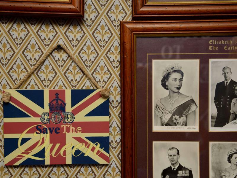 Photographs and a royal declaration, seen at the house of Margaret Tyler who has dedicated her house as a shrine to the British royal family. (Reuters Photo)