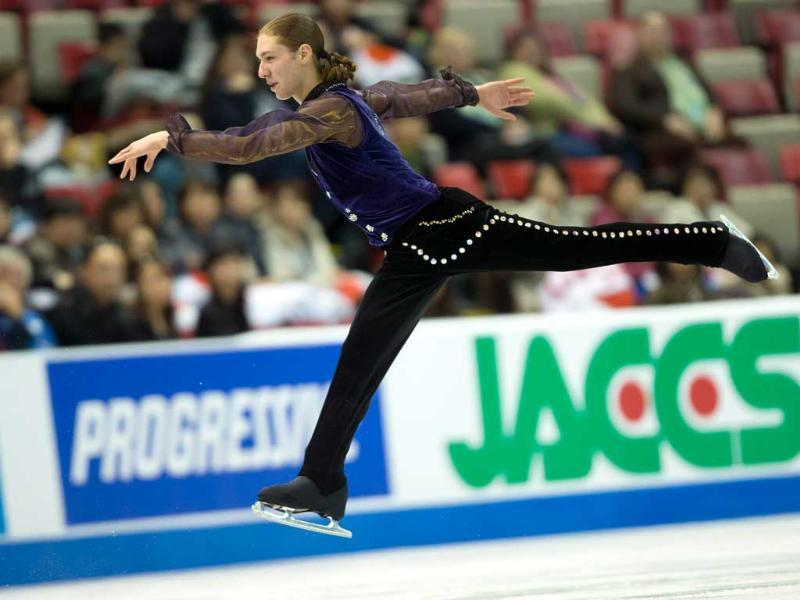Jason Brown of the United States skates his short program at Skate America 2013 in Detroit, Michigan. (AFP Photo)