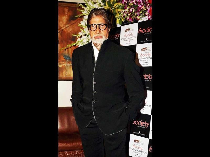 Amitabh Bachchan attends the Society Young Achievers Awards 2013, in Mumbai. (PTI Photo)