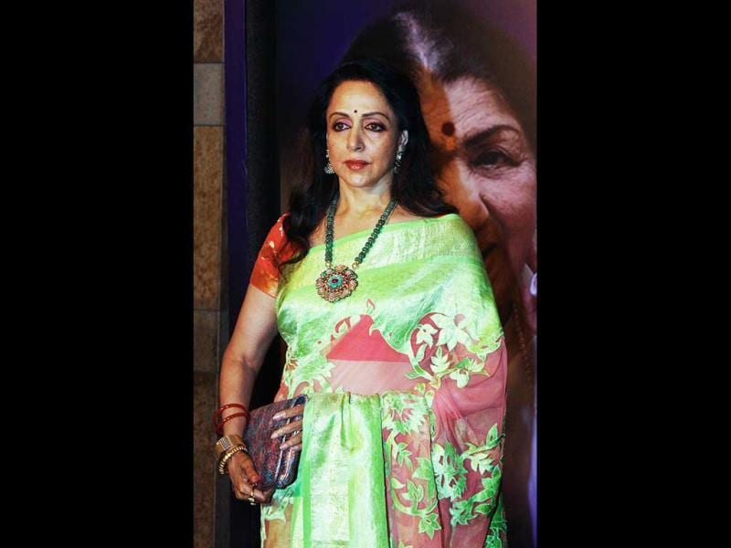 Indian Bollywood film actress Hema Malini attends the first Yash Chopra Memorial Awards ceremony in Mumbai. (AFP Photo)