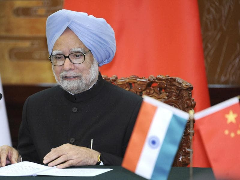 Prime Minister Manmohan Singh talks during a joint news conference with Chinese Premier Li Keqiang at the Great Hall of the People in Beijing. (AP Photo)