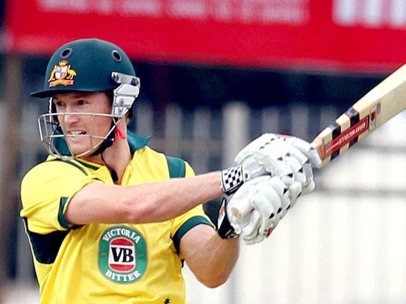 Australian captain George Bailey in action against India during the 4th ODI match in Ranchi. (PTI photo)