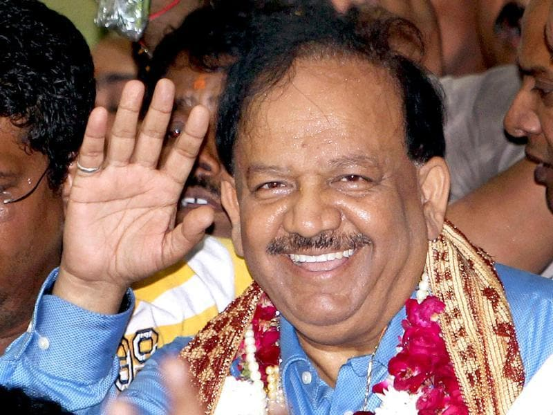 Delhi BJP leader Harsh Vardhan was declared the party's chief ministerial candidate for the Delhi assembly polls. (PTI photo)