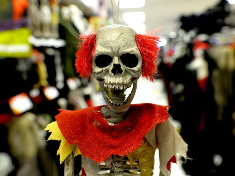 Halloween decorations displayed at a store in Rockville, Maryland. (AFP Photo)