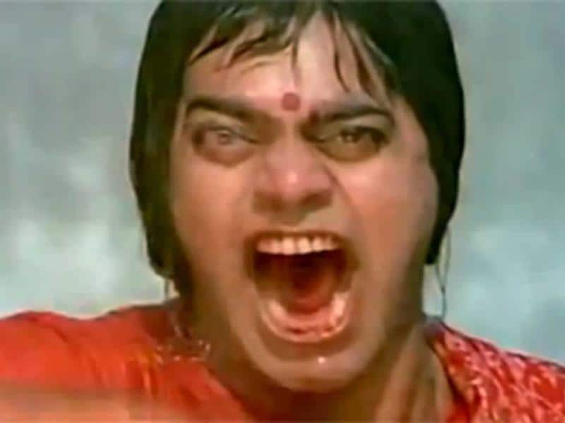 Ashutosh Rana's role in Sangharsh was scary.