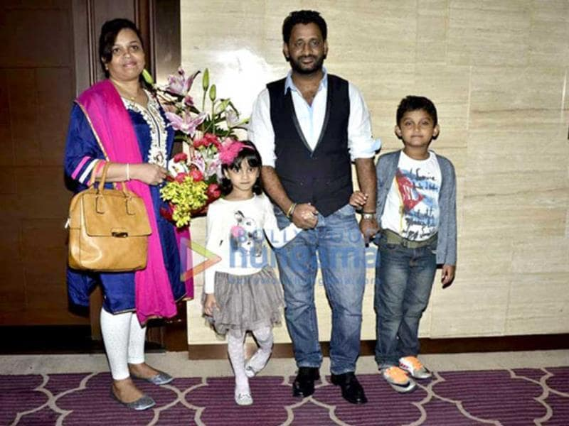 Resul Pookutty attended the bash with his family.