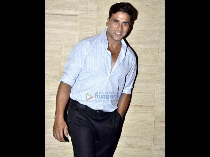 Asin's Housefull co-star Akshay Kumar also made it to the bash.