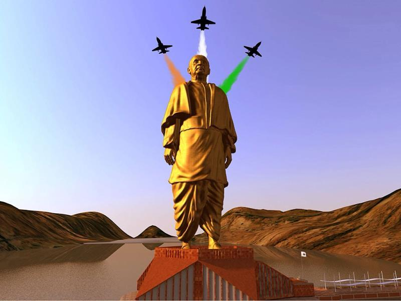 A still image from video shows an artist's rendering of a statue of Sardar Vallabhbhai Patel, to be constructed in Gujarat, in this handout provided by Information Department Gujarat State. (Reuters file photo)