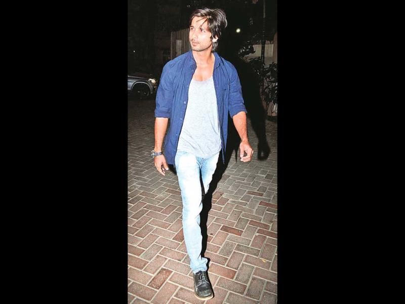 Shahid Kapoor was spotted at the same party. (Photo: Yogen Shah)