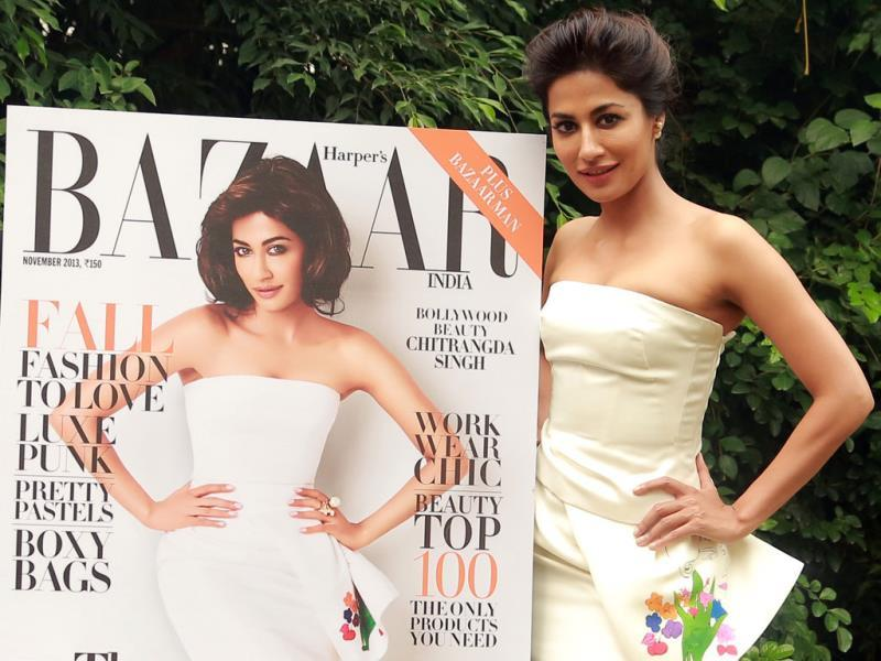 Chitrangada Singh launches the cover page of Harper's Bazaar featuring her.