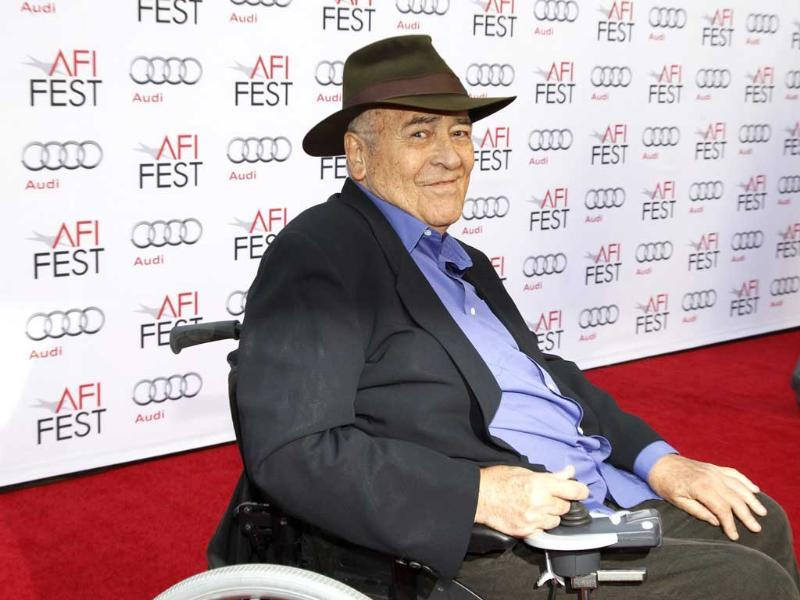 Italian director Bernardo Bertolucci smiles during an interview as he arrives for a gala screening of his film -- The Last Emperor -- in 3D at the AFI Fest 2013 in Hollywood, California. (Reuters photo)