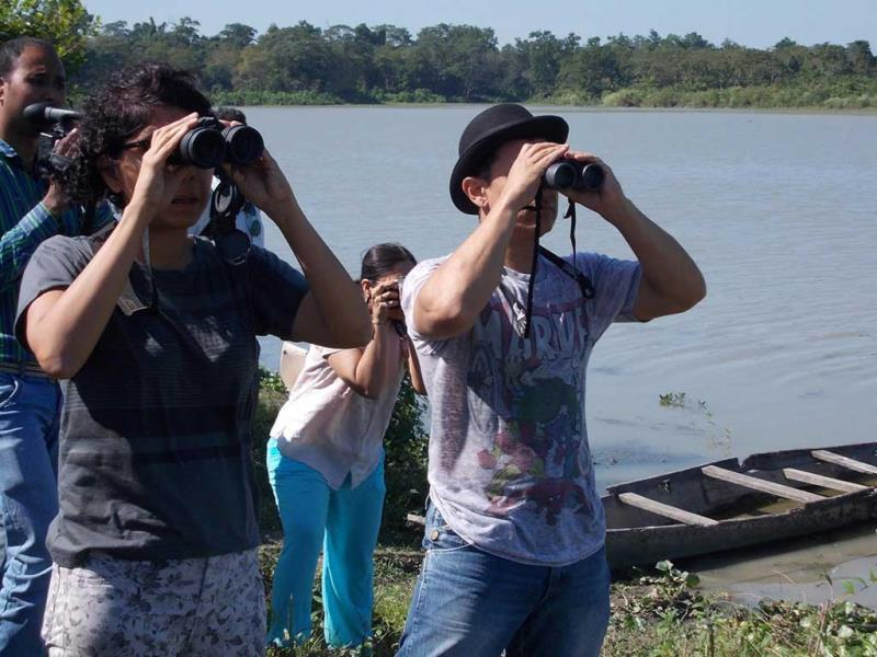 Aamir Khan and Kiran Rao sight see in Kaziranga National Park