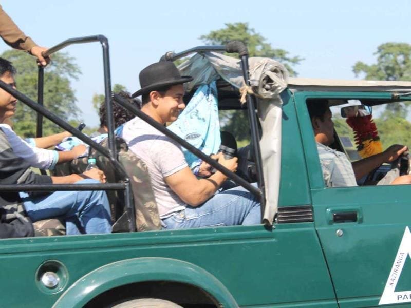 Aamir Khan also visited Kaziranga National Park