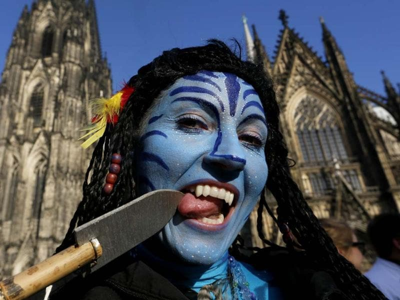 Carnival revellers celebrate the start of the carnival in Cologne. In many parts of Germany people marked the official start of Carnival. (Reuters Photo)
