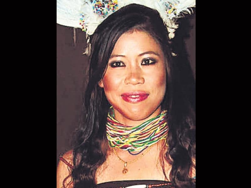 Mary Kom gets a makeover. The boxer goes feminine with a vengeance.