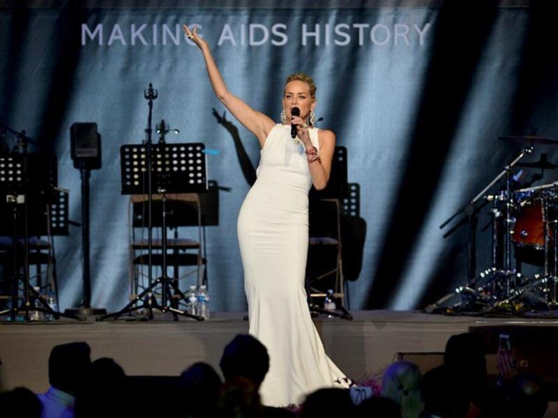 Sharon Stone, who has been a regular at amFAR events held across the globe, also attended the Annual Cinema Against AIDS do organised during the 66th Annual Cannes Film Festival.