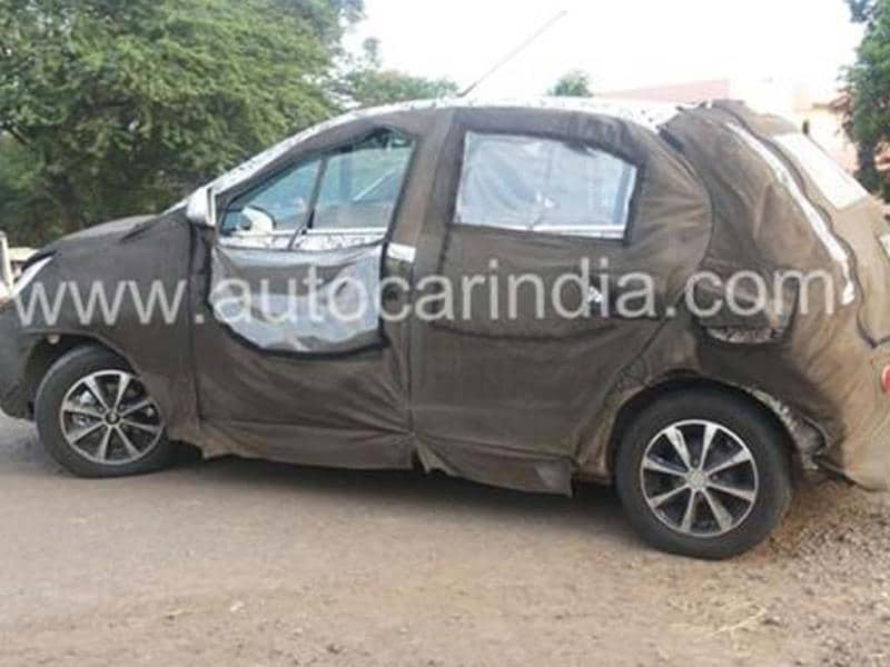 New Tata hatchback spied