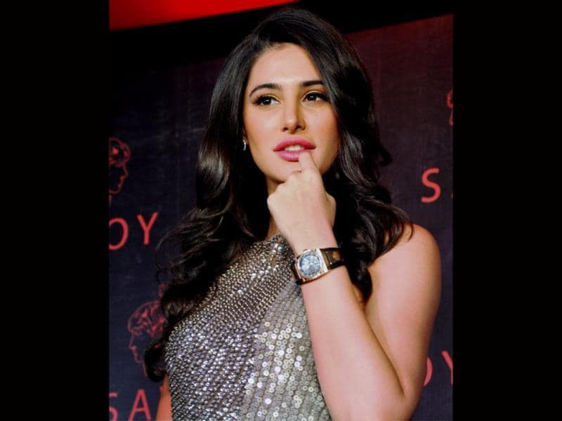 Bollywood beauty and brand ambassador of Savoy Nargis Fakhri launches a new watch.