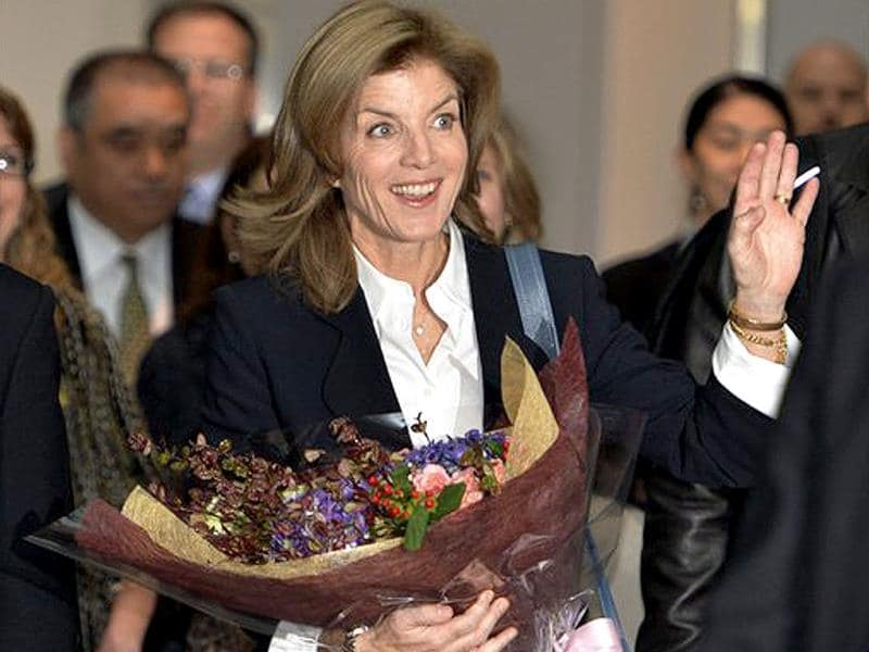 New US Ambassador to Japan Caroline Kennedy arrives at the Narita International Airport in Narita, east of Tokyo. (AP Photo)
