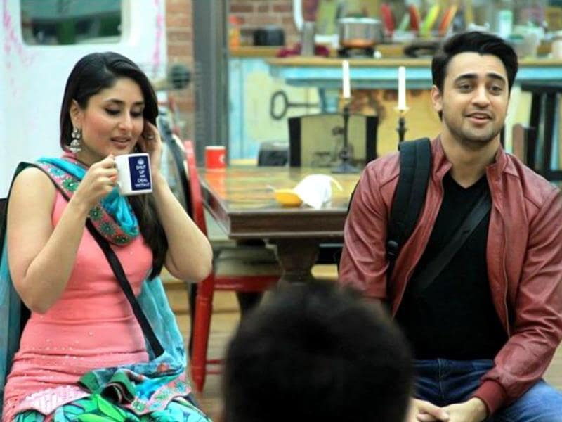 Kareena Kapoor, Imran Khan spend some time inside Bigg Boss house.