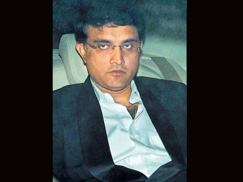 Bengal tiger Sourav Ganguly also attended Sachin's party.