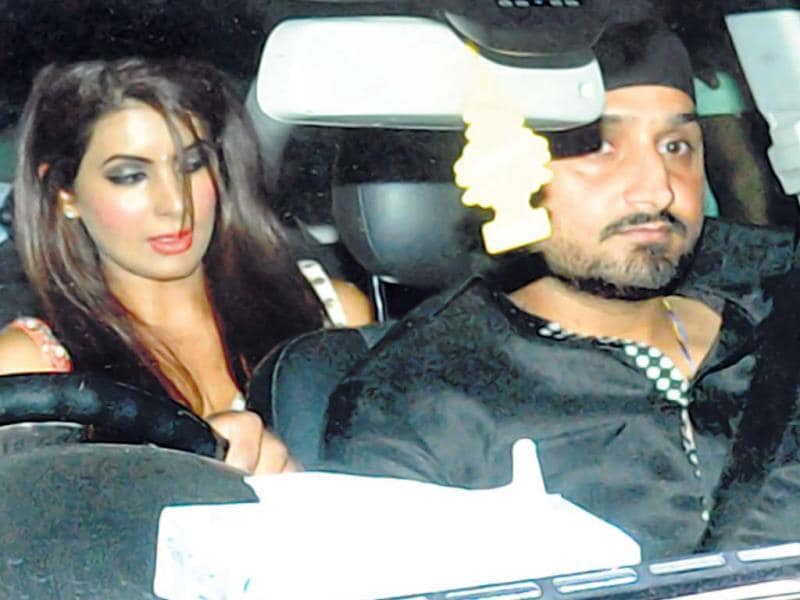 Harbhajan Singh was accompanied by actor Geeta Basra, who is reportedly dating the cricketer.